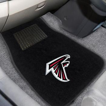 Atlanta Falcons Embroidered Black Car Mat, Set of 2