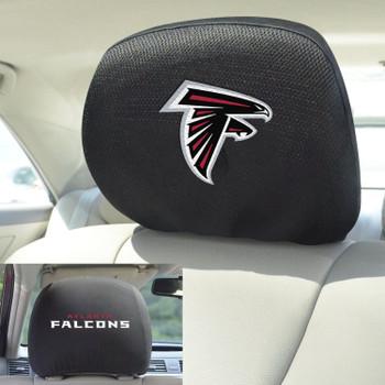 Atlanta Falcons Car Headrest Cover, Set of 2