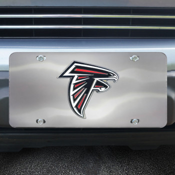 Atlanta Falcons Diecast Stainless Steel License Plate