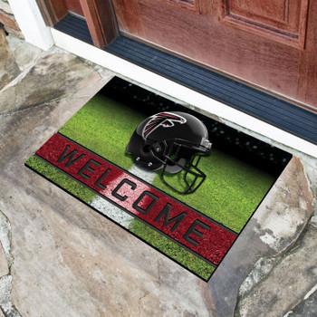 """18"""" x 30"""" Atlanta Falcons Red Crumb Rubber Door Mat"""
