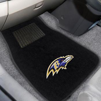 Baltimore Ravens Embroidered Black Car Mat, Set of 2