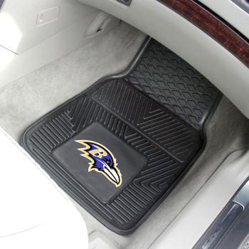 Baltimore Ravens Black Vinyl Car Mat, Set of 2