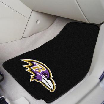 Baltimore Ravens Black Carpet Car Mat, Set of 2