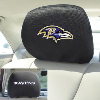 Baltimore Ravens Car Headrest Cover, Set of 2