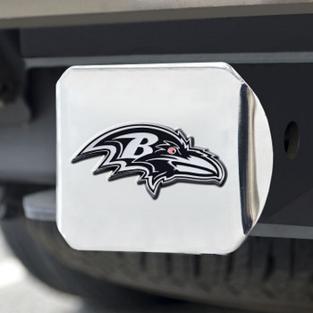 Baltimore Ravens Hitch Cover - Chrome on Chrome