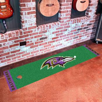 "18"" x 72"" Baltimore Ravens Putting Green Runner Mat"