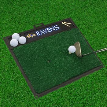 """20"""" x 17"""" Baltimore Ravens Golf Hitting Mat"""