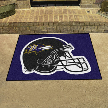 """33.75"""" x 42.5"""" Baltimore Ravens All Star Black Rectangle Rug"""
