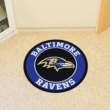 """27"""" Baltimore Ravens Roundel Round Mat"""