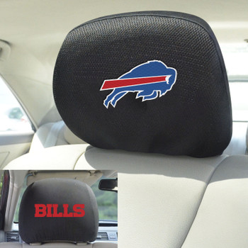 Buffalo Bills Car Headrest Cover, Set of 2