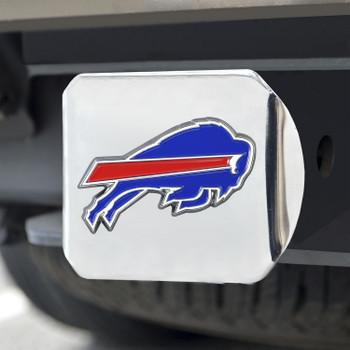 Buffalo Bills Hitch Cover - Blue on Chrome