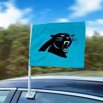 """11"""" x 14"""" Carolina Panthers Blue Car Flag"""