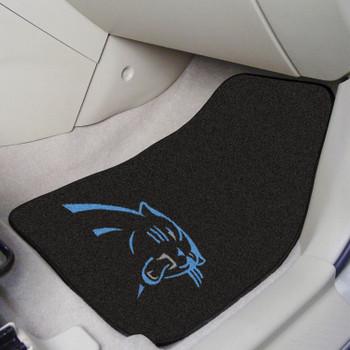 Carolina Panthers Black Carpet Car Mat, Set of 2