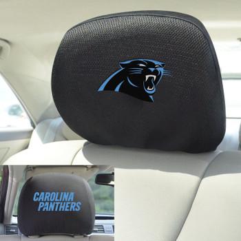 Carolina Panthers Car Headrest Cover, Set of 2