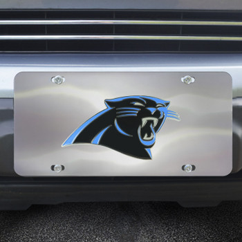Carolina Panthers Diecast Stainless Steel License Plate