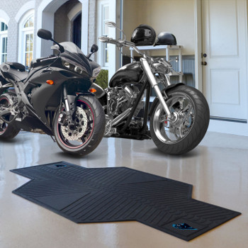 "82.5"" x 42"" Carolina Panthers Motorcycle Mat"