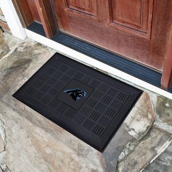 """19.5"""" x 31.25"""" Carolina Panthers Medallion Rectangle Door Mat"""
