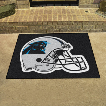 """33.75"""" x 42.5"""" Carolina Panthers All Star Black Rectangle Rug"""