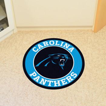 "27"" Carolina Panthers Roundel Round Mat"