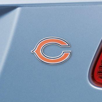 Chicago Bears Orange Emblem, Set of 2