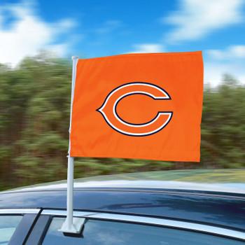 "11"" x 14"" Chicago Bears Orange Car Flag"