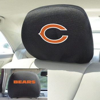 Chicago Bears Car Headrest Cover, Set of 2