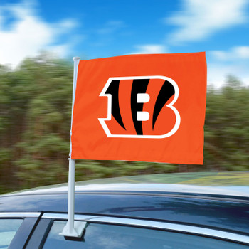 """11"""" x 14"""" Cincinnati Bengals Orange Car Flag"""