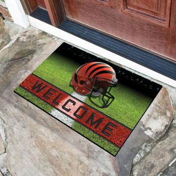 "18"" x 30"" Cincinnati Bengals Black Crumb Rubber Door Mat"