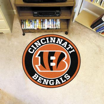 """27"""" Cincinnati Bengals Roundel Round Mat"""