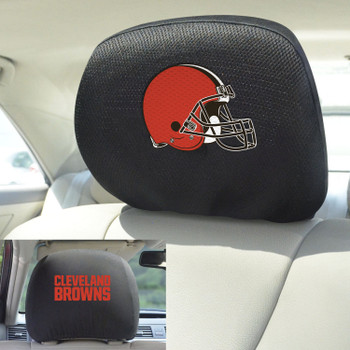 Cleveland Browns Car Headrest Cover, Set of 2