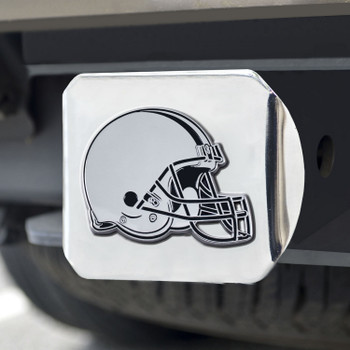 Cleveland Browns Hitch Cover - Chrome on Chrome