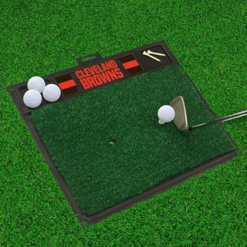 """20"""" x 17"""" Cleveland Browns Golf Hitting Mat"""