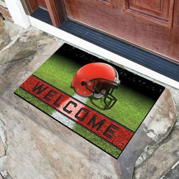 """18"""" x 30"""" Cleveland Browns Brown Crumb Rubber Door Mat"""
