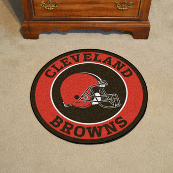 """27"""" Cleveland Browns Roundel Round Mat"""