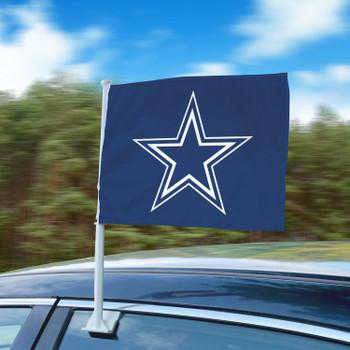 """11"""" x 14"""" Dallas Cowboys Blue Car Flag"""