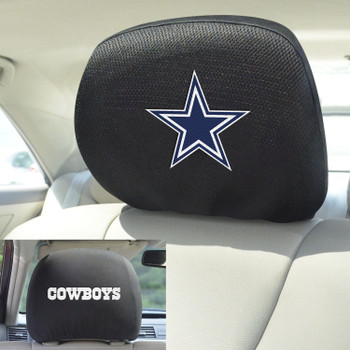 Dallas Cowboys Car Headrest Cover, Set of 2
