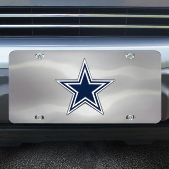 Dallas Cowboys Diecast Stainless Steel License Plate