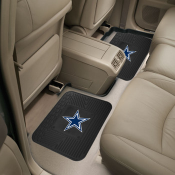 "14"" x 17"" Dallas Cowboys Vinyl Car Utility Mat, Set of 2"