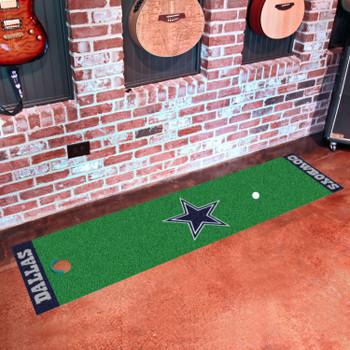 """18"""" x 72"""" Dallas Cowboys Putting Green Runner Mat"""