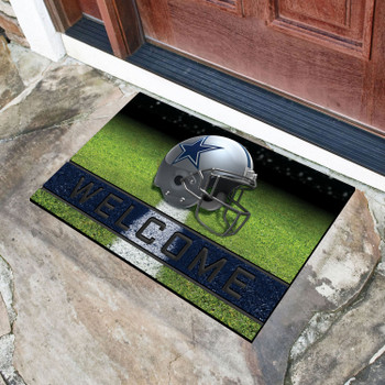 """18"""" x 30"""" Dallas Cowboys Navy Crumb Rubber Door Mat"""