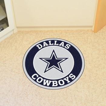 "27"" Dallas Cowboys Roundel Round Mat"