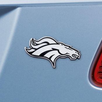 Denver Broncos Chrome Emblem, Set of 2
