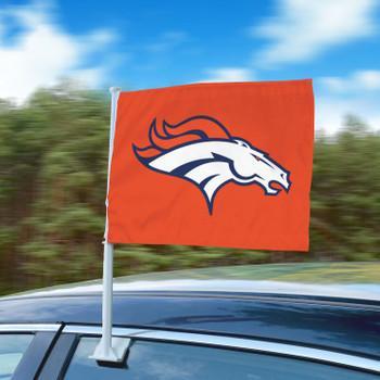 """11"""" x 14"""" Denver Broncos Orange Car Flag"""
