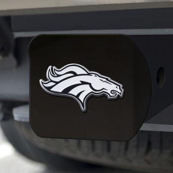 Denver Broncos Hitch Cover - Chrome on Black