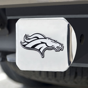 Denver Broncos Hitch Cover - Chrome on Chrome
