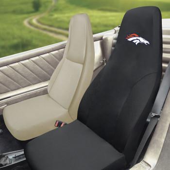 Denver Broncos Black Car Seat Cover