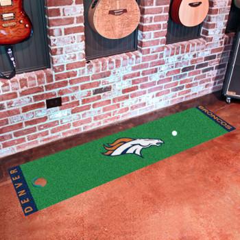 """18"""" x 72"""" Denver Broncos Putting Green Runner Mat"""