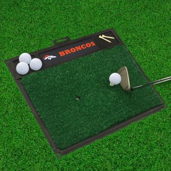 "20"" x 17"" Denver Broncos Golf Hitting Mat"