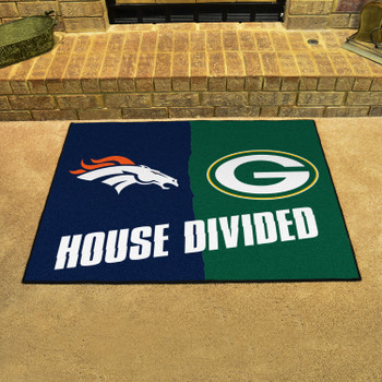 """33.75"""" x 42.5"""" Broncos / Packers House Divided Rectangle Mat"""