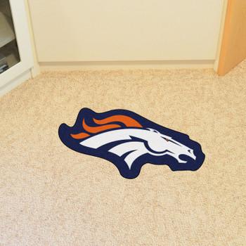 Denver Broncos Navy Mascot Mat
